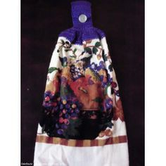 Hand Crochet Top Hand Kitchen Dish Towels NEW - FRUIT BASKET