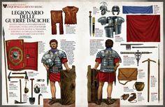 """""""Legionario delle Guerre Daciche, 102 dC"""", A cura di Raffaele D'Amato - Illustrazioni di Giorgio Albertini"""