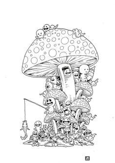 Иллюстрация 8 из 46 для Вторжение дудлов. Не самая обычная раскраска для взрослых - Зиффлин   Лабиринт - книги. Источник: Калинчева  Татьяна Александровна