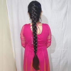 Indian Long Hair Braid, Braids For Long Hair, Braided Hairstyles, Indian Hairstyles, Silky Hair, French Braid, Bodycon Dress, Long Hair Styles, Beauty