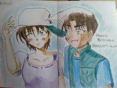 Heiji Hattori & Kazuha Toyama. Weird draw maybe