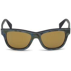 Diesel DL0111 Eyewear ($180) ❤ liked on Polyvore featuring accessories, eyewear, sunglasses, green camouflage, women, logo sunglasses, checkered sunglasses, diesel eyewear, camo sunglasses and camo glasses