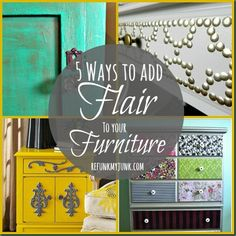 5 Ways to Add Flair to Furniture {Furniture Painting Techniques} - Refunk My Junk: Revamp, Repurpose, Refunk.