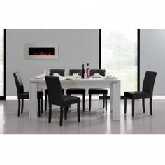 [en.casa] Set sala da pranzo con tavolo e 6 sedie (6 variazioni di colori ) 345,60 € Conference Room, Dining Table, Furniture, Home Decor, Home, Dinner Room, Chairs, Colors, White Oak Tree