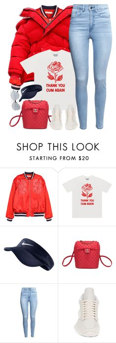 """Long time, No see."" by oh-aurora ❤ liked on Polyvore featuring Balenciaga, NIKE, Chanel, H&M and adidas"
