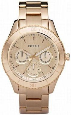 Beautiful rose gold watch from Fossil