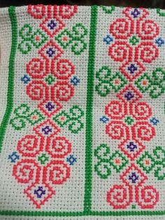 Needlepoint Stitches, Hand Embroidery Stitches, Beaded Embroidery, Cross Stitch Embroidery, Embroidery Patterns, Needlework, Sewing Patterns, Cross Stitch Borders, Cross Stitch Flowers