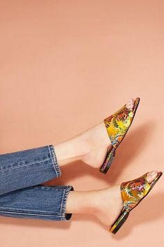 Chio Brocade Slide Sandals