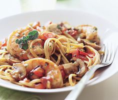 Fettuccine with Shrimp from Epicurious.com #myplate #protein