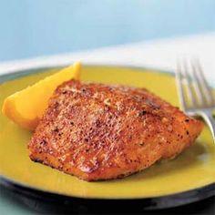 Sweet Orange Salmon - one of my favorite salmon recipes!  Extra Yummy - add a bit more orange zest & brown sugar :-)