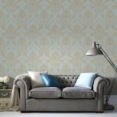 Oxford Teal/Gold Wallpaper by Graham and Brown