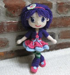 CROCHET PATTERN - Plum Pudding - A Strawberry Shortcake Doll  *** THIS IS A PATTERN FOR INSTANT DOWNLOAD, THE LISTING IS NOT FOR THE FINISHED