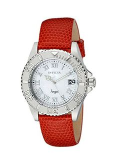 Women's Wrist Watches - Invicta Womens 18402 Angel Analog Display Swiss Quartz Orange Watch *** Check this awesome product by going to the link at the image.