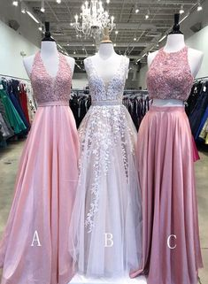 Charming Prom Dress, Tulle Prom Dresses, Long Evening