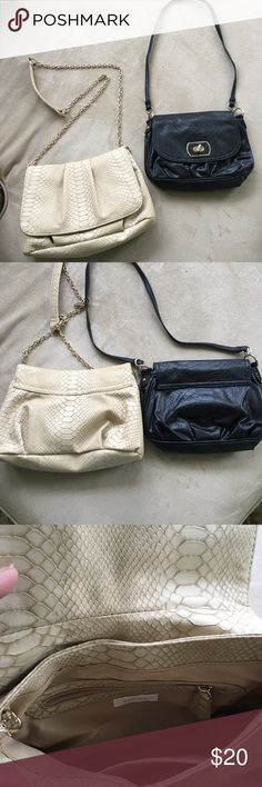 Bundle of 2 Chico's purses Excellent, gently used condition. No flaws, stains or other imperfections. Faux leather with textured feel. Chico's Bags Shoulder Bags