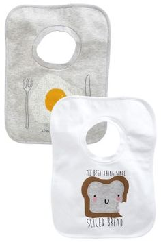 Buy Two Pack Eggs And Bread Slogan Overhead Bibs from the Next UK online shop