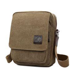 $16.35 (Buy here: https://alitems.com/g/1e8d114494ebda23ff8b16525dc3e8/?i=5&ulp=https%3A%2F%2Fwww.aliexpress.com%2Fitem%2FFashion-Canvas-Men-Messenger-Bag-Brand-Designer-shoulder-bags-men-travel-bags-All-match-men-sport%2F32681406974.html ) 2016 New Men Crossbody Bag Canvas Small High Quality Canvas Shoulder messenger Bags 2016 New School bags for boy teenagers Brown for just $16.35