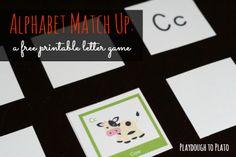 alphabet match, names, learn, fun, free printabl, teach letter, letters, printabl alphabet, preschool literaci