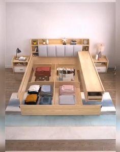 Bedroom Closet Design, Bedroom Furniture Design, Home Decor Furniture, Furniture Plans, Small Room Design, Home Room Design, Home Interior Design, Space Saving Furniture, Furniture For Small Spaces