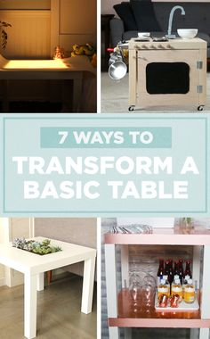 7 Creative Ways To Transform A Basic Table ✨