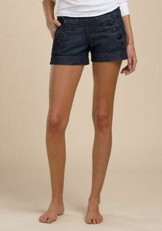 4dbe42719c Lucky Brand Denim Sailor Shorts Murky Waters Wash Womens Size 6 / 28 Blue  NEW #LuckyBrand #DenimShorts #Casual