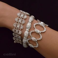 Best Diamond Bracelets : The Beauty of a NYC White Out! ❄️ Winter Wonderland at Cellini Jewelers in NYC. Diamond Bracelets, Sterling Silver Bracelets, Jewelry Bracelets, Ankle Bracelets, Jewellery, Pandora Bracelets, Modern Jewelry, Fine Jewelry, Faberge Eier