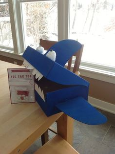 shark valentine box is super cute irl just used a shoe box paint