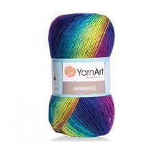 YarnArt AMBIANCE Rainbow Gradient Wool Yarn 100 g 250 meters Multicolor Wool yarn for crochet Shawl Scarf yarn magic soft color choice yarn Yarn Knitting Wool, Hand Knitting, Crochet Shawl, Crochet Yarn, Yarn Colors, Soft Colors, Yarn For Sale, Yarn Shop, Chunky Yarn