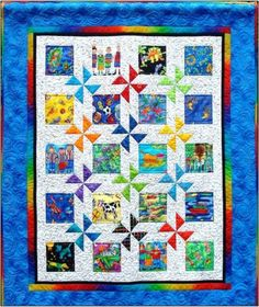 Magic-Wheels-Quilt-Pattern-NEW-Crib-Twin-Queen-Great-for-Baby-BOY-OR-GIRL-423