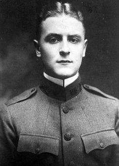 "1917, ""Great Gatsby"" genius F.Scott Fitzgerald's military portrait. I know he purchased the uniform for this photo at Brooks Brothers, was very excited to go to battle, but never ended up serving. It was a regret that supposedly haunted him his whole life, never being in a war. Anyhow, he's adorable if you ask me."