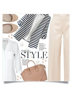 """Stripe Style"" by captainsilly ❤ liked on Polyvore featuring The Row, WithChic and Givenchy"