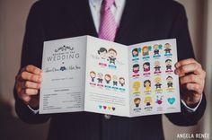 cartoon wedding programs
