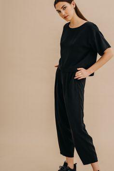 Spodnie z Tencelu™ i lnu / 05 / 06 / onyx black – NAGO Black, Black People