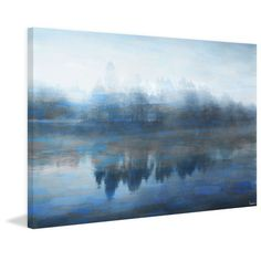 Parvez Taj Lake Marmont Painting Print on Wrapped Canvas
