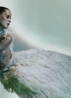 Carmen Kass by Javier Vallhonrat for Vogue Italy