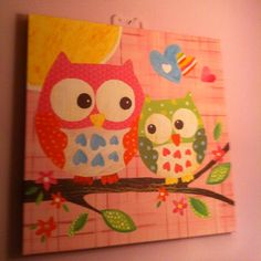 Owls and nature canvas from target :)