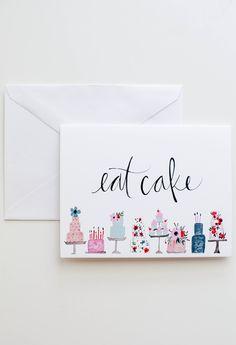 Eat Cake card / Shannon Kirsten Illustration via Etsy