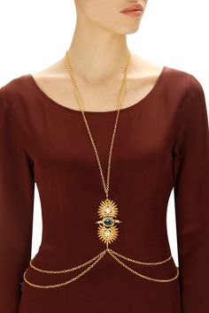 Gold plated montana body chain available only at Pernia's Pop-Up Shop.