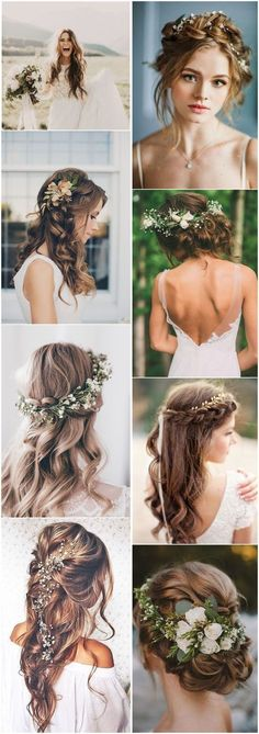 Wedding Hairstyles » 21 Inspiring Boho Bridal Hairstyles Ideas to Steal #weddingideas