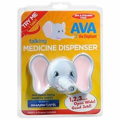 Ava the Elephant Talking Medicine Dispenser, $9.99www.infanteeniebeenie.com~  the only hat guaranteed to fit and stay snug to all newborns!