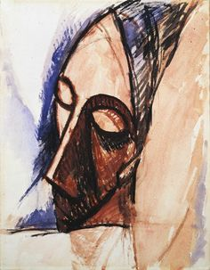 "Pablo Picasso ""Tête de trois quarts (Head in Three-Quarter View)"""