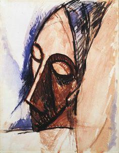 "Pablo Picasso ""Tête de trois quarts (Head in Three-Quarter View)"""