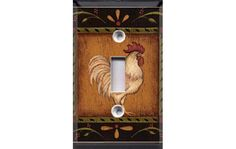 Kitchen Chicken Switch Plate Cover by Crazy8Zdecor on Etsy, $6.99