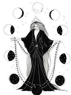 "neskatohime-illustration: ""Happy New Year guys! Thank you for your support! "" neskatohime-illustration: ""Happy New Year guys! Thank you for your support! Art And Illustration, Ink Illustrations, Witch Art, Witch Aesthetic, Book Of Shadows, Dark Art, Art Inspo, Fantasy Art, Cool Art"