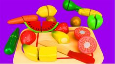 Learn Colors with Cutting Fruit and Vegetables for Children Kids Babies Egg Toys, Learning Colors, Fruits And Vegetables, Baby Kids, Make It Yourself, Babies, Children, Fruits And Veggies, Kids