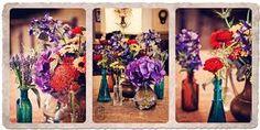 colorful wedding vintage floral centerpiece - Recherche Google
