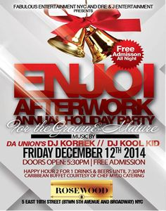 Enjoi Afterwork Fridays Annual Holiday Party @ Rosewood Friday December 12, 2014 « Bomb Parties – Club Events and Parties – NYC Nightlife Promotions