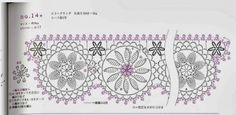 Tejer Crochet - Gráficos: Barradinhos ganchillo