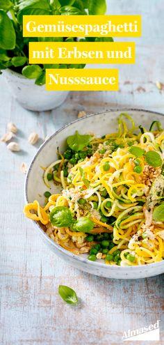 Wer seine Kohlenhydrat-Zufuhr reduzieren möchte, muss nicht auf Pasta verzichten: Gemüsenudeln schmecken mindestens genauso gut. Das passende Rezept haben wir für euch! 😋  #almased #fragalma #gesundessen #abnehmen2020 #sommerrezepte #zoodles