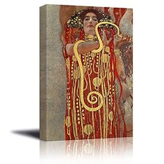 Wall26  Hygeia detail from Medicine by Gustav Klimt  Canvas Print Wall Art Famous Oil Painting Reproduction  24 x 36 * More info could be found at the image url.Note:It is affiliate link to Amazon.